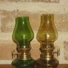 Vintage: CANDIL,JUEGO DE 2 PEQUEÑOS CANDILES DE CRISTAL.AÑOS 70.. Lote 195249230