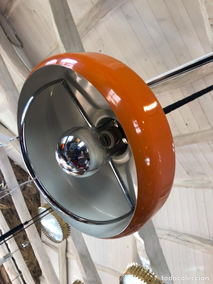 Vintage: Antigua lámpara de los 70 naranja - Foto 2 - 195304387
