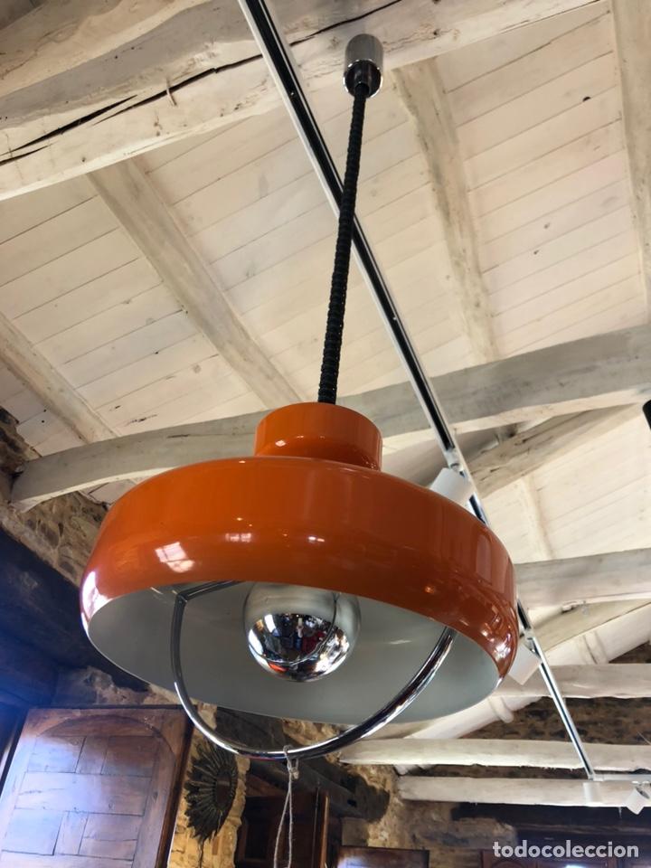 Vintage: Antigua lámpara de los 70 naranja - Foto 3 - 195304387