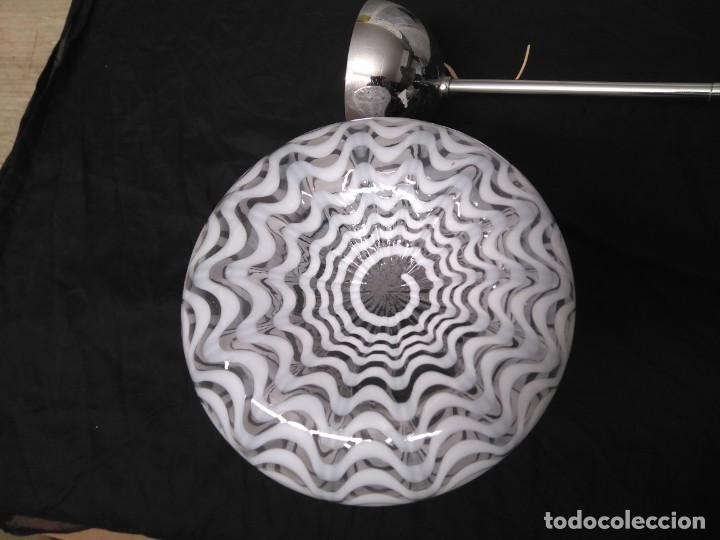 Vintage: Lámpara de techo con 3 tulipas cristal transparente y blanco - Foto 8 - 195321800