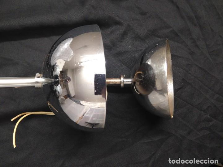Vintage: Lámpara de techo con 3 tulipas cristal transparente y blanco - Foto 9 - 195321800