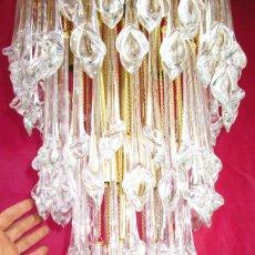 Vintage: GRAN LAMPARA CASCADA CRISTAL MURANO ORIGINAL PAOLO VENINI AÑOS 60. Lote 195340940