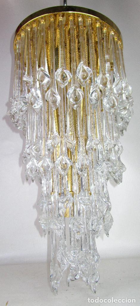 Vintage: GRAN LAMPARA CASCADA CRISTAL MURANO ORIGINAL PAOLO VENINI AÑOS 60 - Foto 3 - 195340940