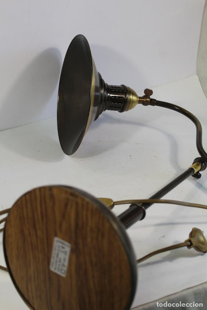 Vintage: flexo lampara de sobremesa en metal dorado - Foto 10 - 195347415