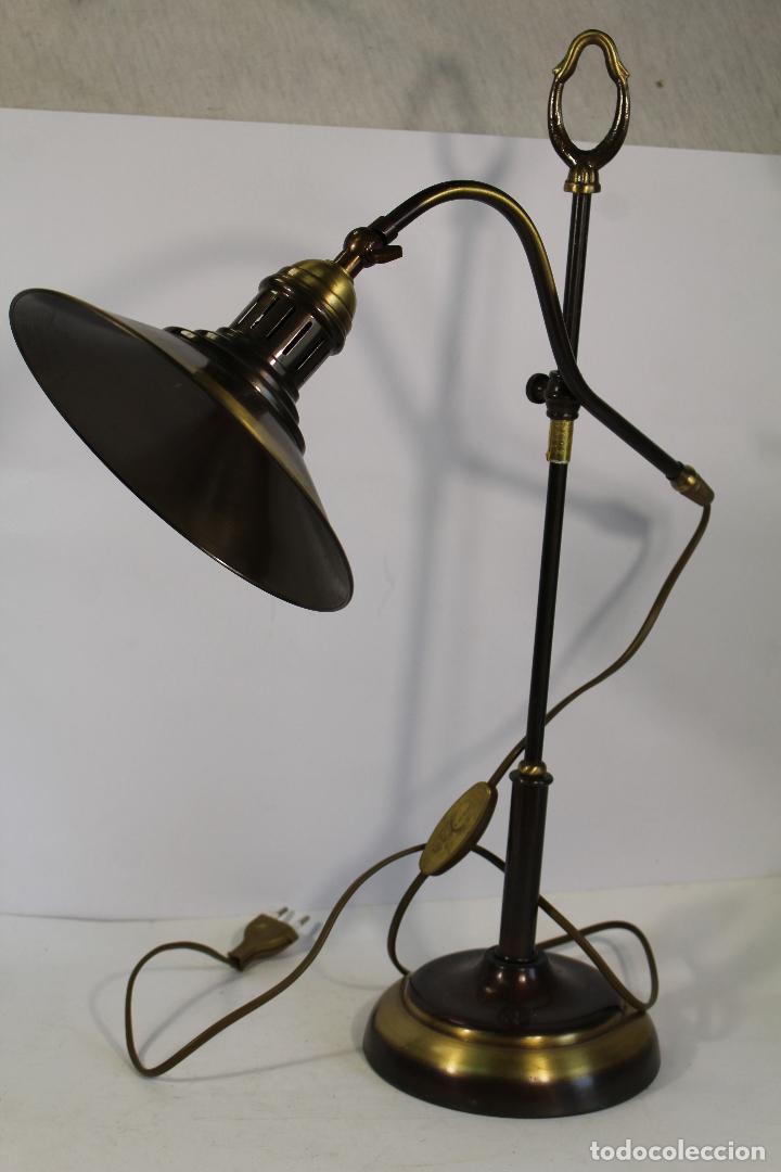 FLEXO LAMPARA DE SOBREMESA EN METAL DORADO (Vintage - Lámparas, Apliques, Candelabros y Faroles)
