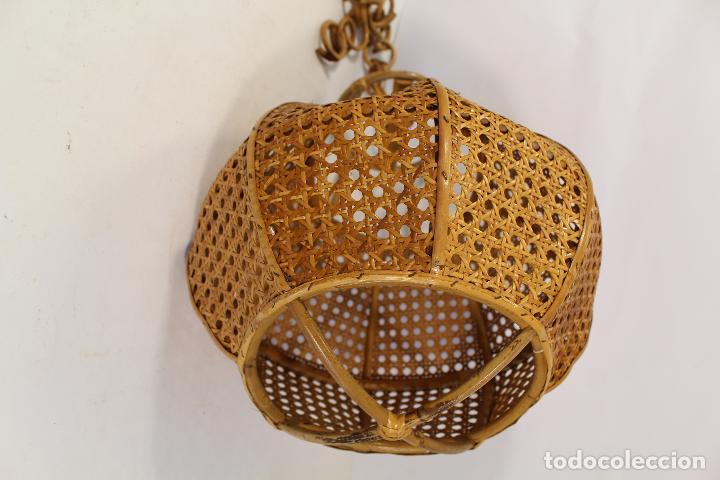 Vintage: lampara de techo de bambú - Foto 2 - 195354888