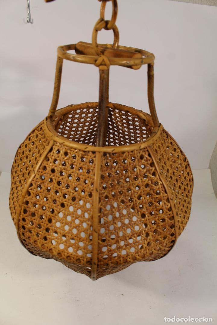 Vintage: lampara de techo de bambú - Foto 3 - 195354888