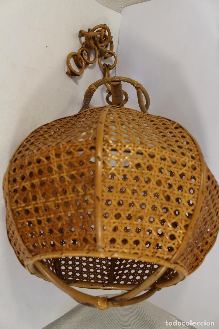 Vintage: lampara de techo de bambú - Foto 4 - 195354888