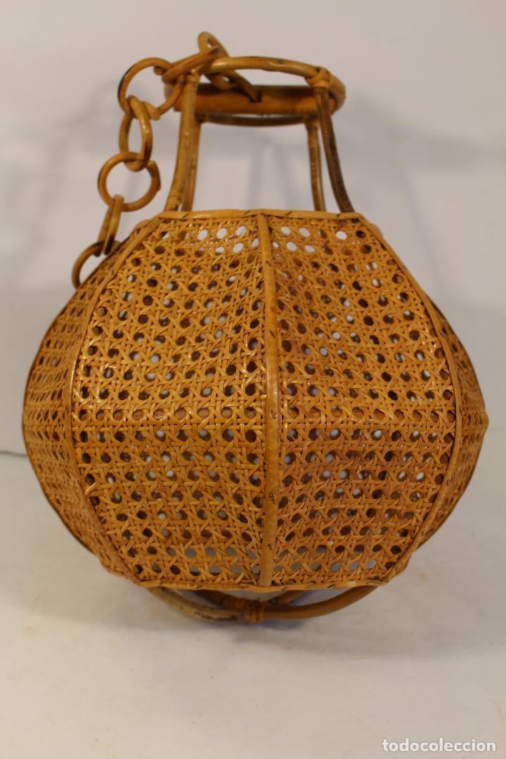 Vintage: lampara de techo de bambú - Foto 5 - 195354888