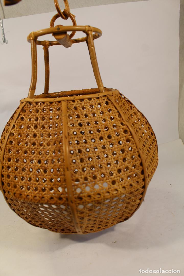 Vintage: lampara de techo de bambú - Foto 6 - 195354888