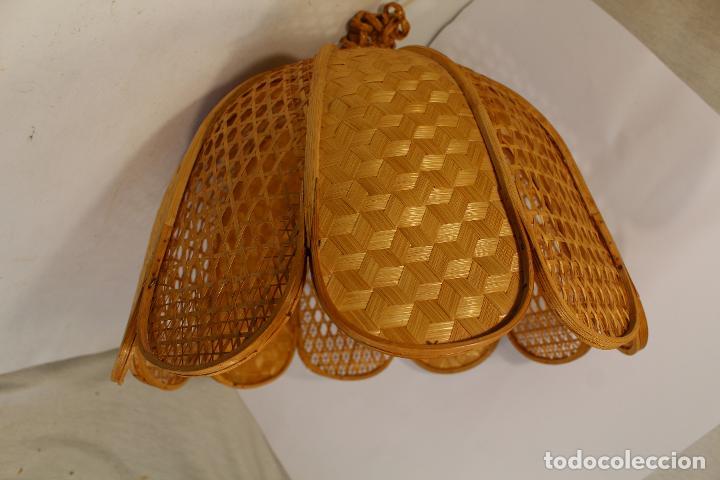 Vintage: lampara de techo de bambú - Foto 2 - 195355053