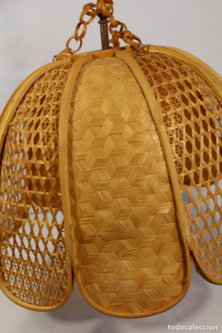 Vintage: lampara de techo de bambú - Foto 3 - 195355053
