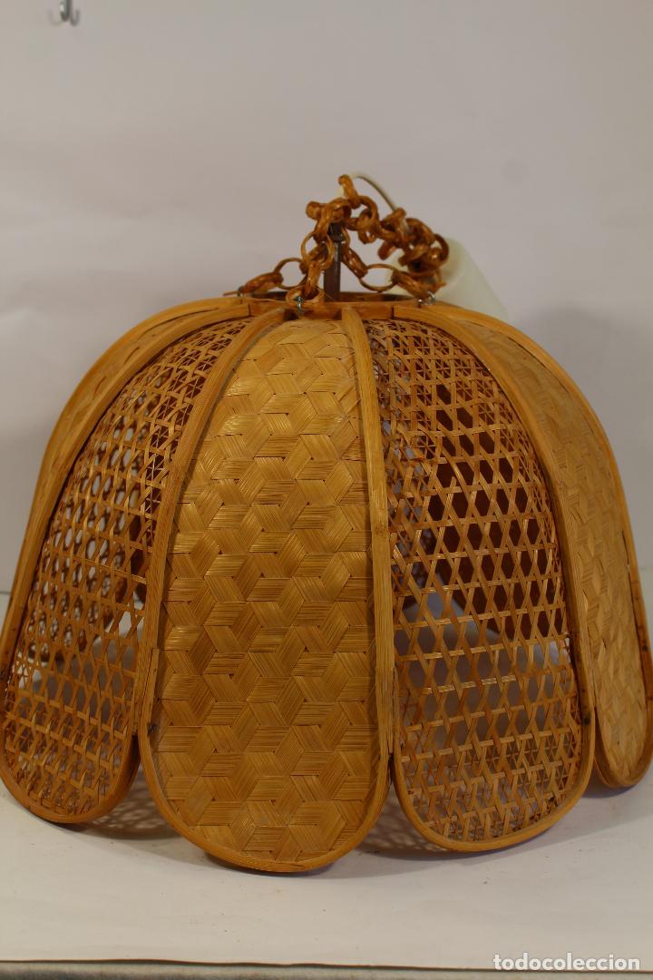 Vintage: lampara de techo de bambú - Foto 4 - 195355053