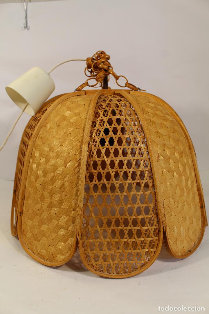 Vintage: lampara de techo de bambú - Foto 5 - 195355053