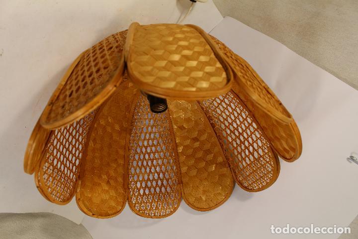 Vintage: lampara de techo de bambú - Foto 6 - 195355053