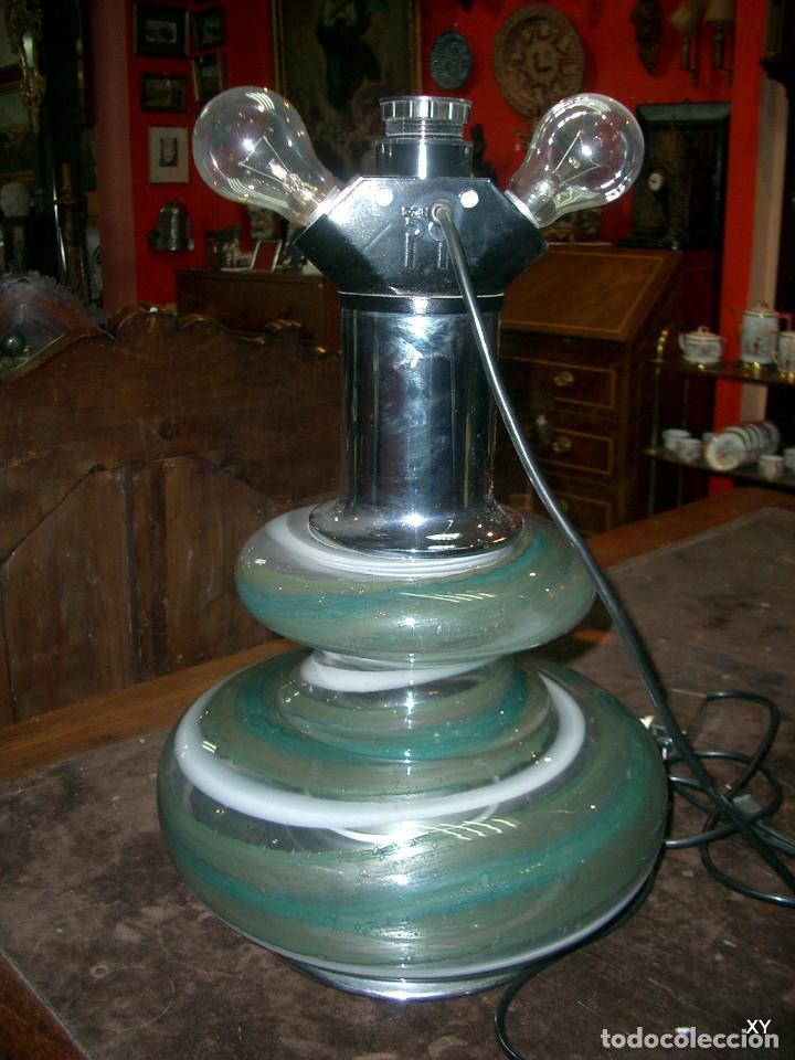 Vintage: Lampara de sobremesa en cristal, marca lumica, años 70 - Foto 4 - 195362646