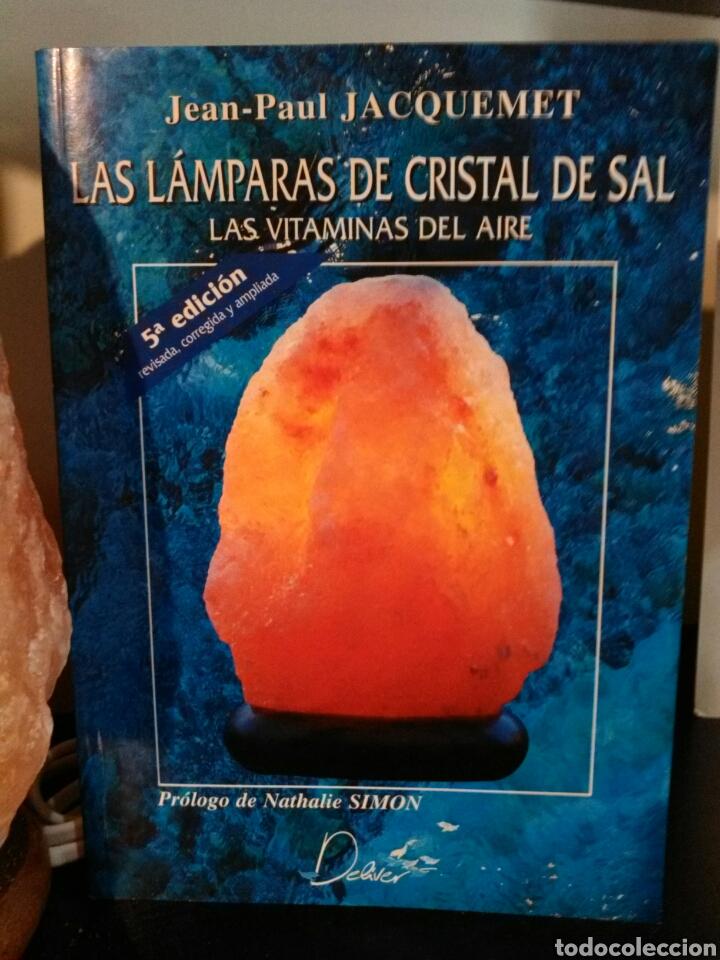 Vintage: LÁMPARA DE SAL+LIBRO LAS LÁMPARAS DE CRISTAL DE SAL. - Foto 3 - 195368125