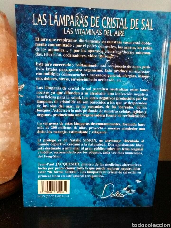 Vintage: LÁMPARA DE SAL+LIBRO LAS LÁMPARAS DE CRISTAL DE SAL. - Foto 5 - 195368125