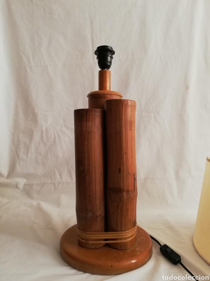 Vintage: Bonita lampara de mesa tronco madera estilo Nordico - Foto 2 - 195387778