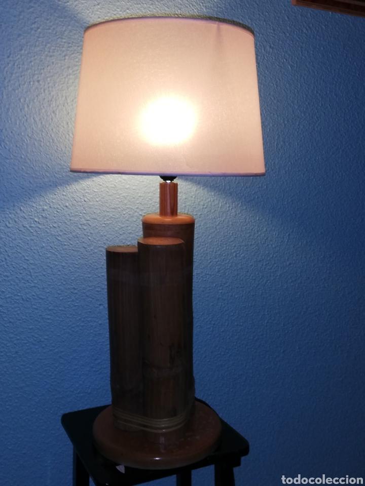 Vintage: Bonita lampara de mesa tronco madera estilo Nordico - Foto 5 - 195387778