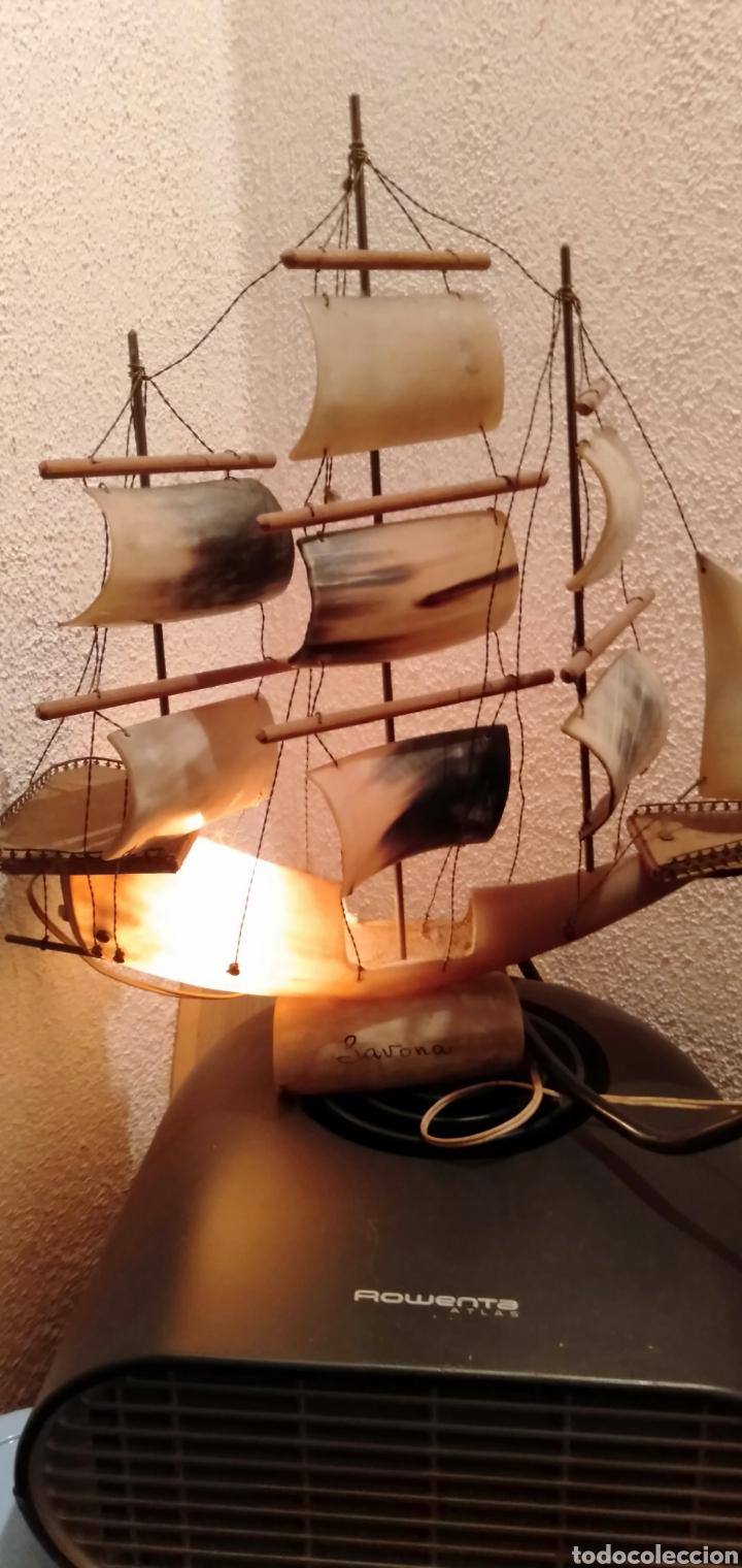 Vintage: Antigua lampara de cuerno de vaca años 70 - Foto 2 - 195488983