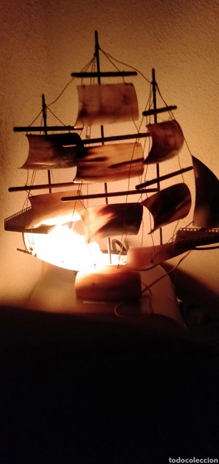 Vintage: Antigua lampara de cuerno de vaca años 70 - Foto 4 - 195488983