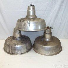 Vintage: LOTE DE 3 LAMPARAS - INDUSTRIAL DE LA MARCA INDALUX.42 CM DE DIAMETRO.. Lote 195518212