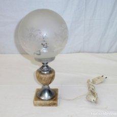 Vintage: LAMPARA DE MESA CON GLOBO AL ACIDO.. Lote 195518301