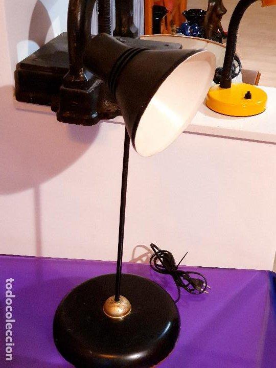 ANTIGUA LAMPARA ESCRITORIO VINTAGE FASE LAMPARA AÑOS 60-70 (Vintage - Lámparas, Apliques, Candelabros y Faroles)