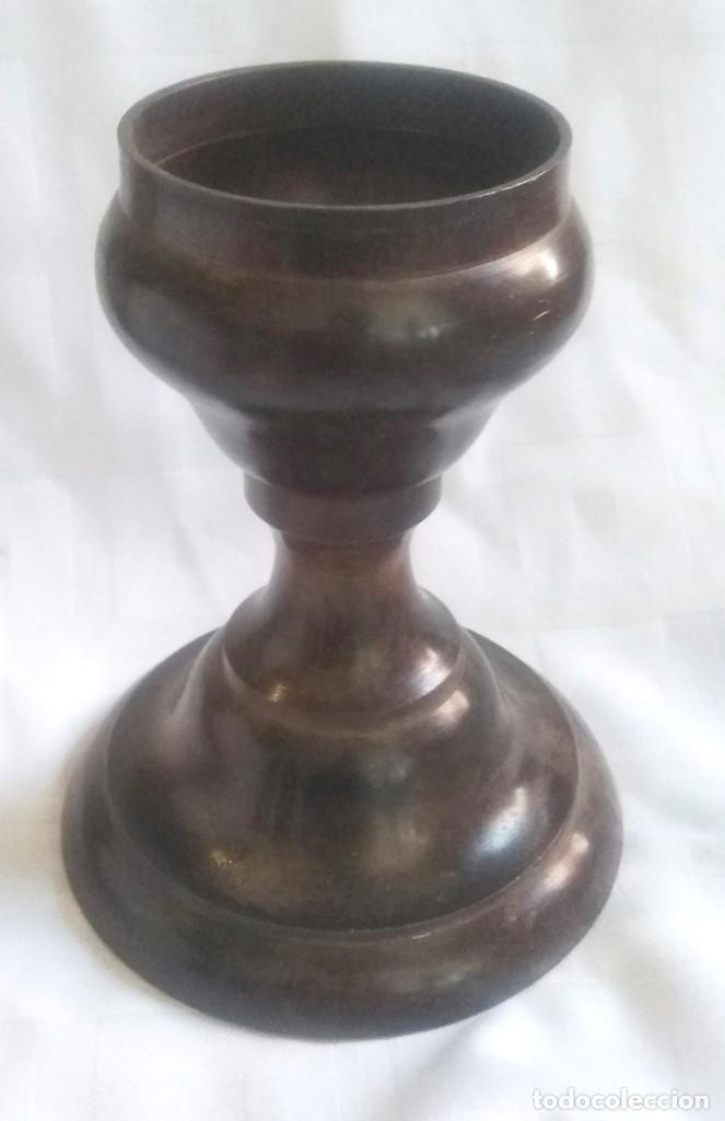 CANDELABRO O VELERO DE BRONCE (Vintage - Lámparas, Apliques, Candelabros y Faroles)