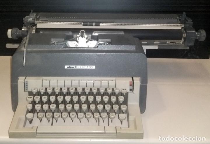 MAQUINA DE ESCRIBIR OLIVETTI LINEA 98 (Vintage - Lámparas, Apliques, Candelabros y Faroles)
