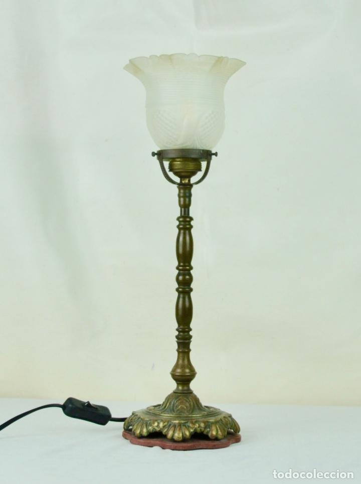 LÁMPARA SOBREMESA TULIPA HACIA ARRIBA (Vintage - Lámparas, Apliques, Candelabros y Faroles)
