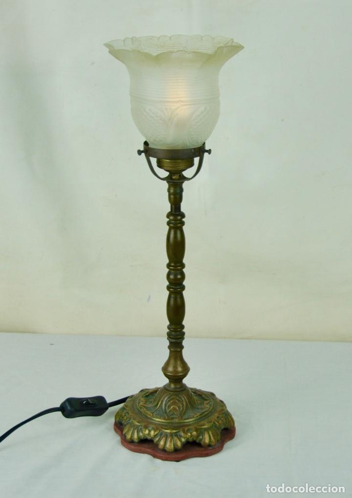 Vintage: Lámpara sobremesa tulipa hacia arriba - Foto 8 - 61147855