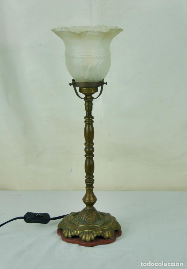 Vintage: Lámpara sobremesa tulipa hacia arriba - Foto 2 - 61147855