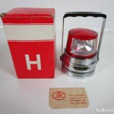 Vintage: ANTIGUA LINTERNA H - DOUBLE TRIANGLE - VARIOS USOS - MADE IN HONG KONG - CAJA, CERTIFICADO - AÑOS 60. Lote 197740441