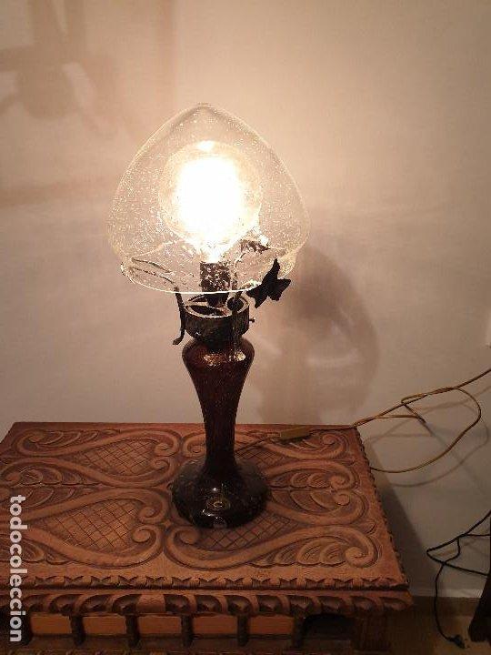 Vintage: LAMPARA SOBREMESA CRISTAL MURANO MODERNISTA - Foto 2 - 198253543