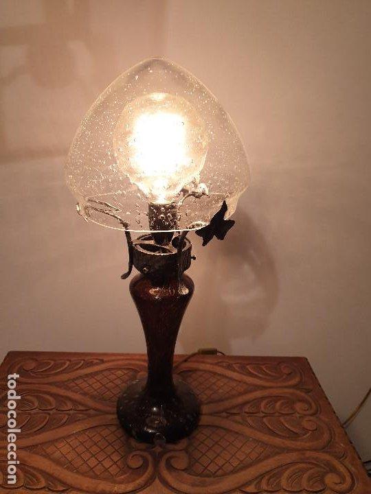 Vintage: LAMPARA SOBREMESA CRISTAL MURANO MODERNISTA - Foto 3 - 198253543