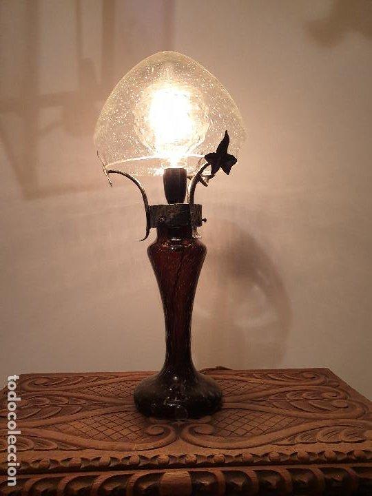 Vintage: LAMPARA SOBREMESA CRISTAL MURANO MODERNISTA - Foto 7 - 198253543