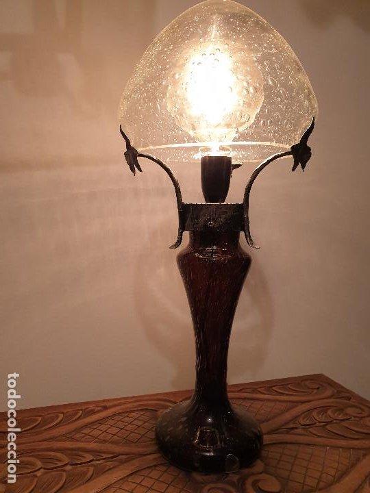 Vintage: LAMPARA SOBREMESA CRISTAL MURANO MODERNISTA - Foto 8 - 198253543