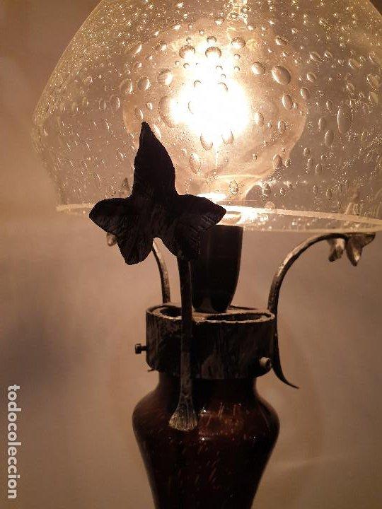 Vintage: LAMPARA SOBREMESA CRISTAL MURANO MODERNISTA - Foto 10 - 198253543