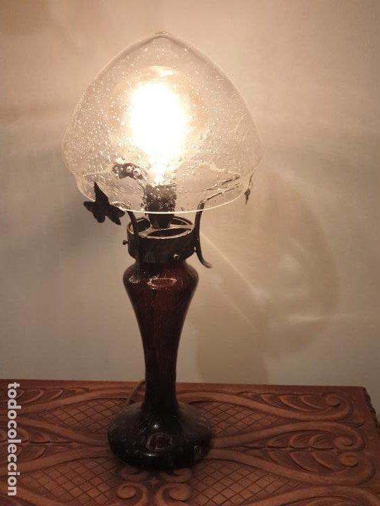 Vintage: LAMPARA SOBREMESA CRISTAL MURANO MODERNISTA - Foto 12 - 198253543