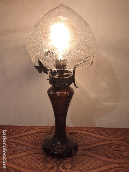 Vintage: LAMPARA SOBREMESA CRISTAL MURANO MODERNISTA - Foto 13 - 198253543