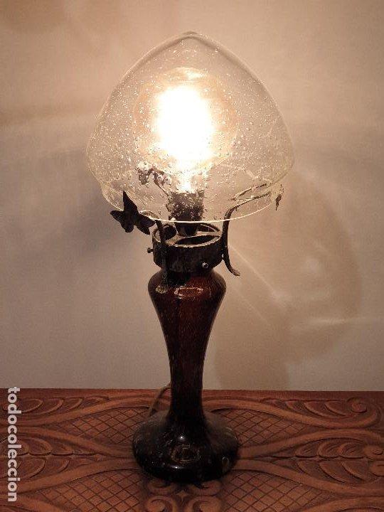 Vintage: LAMPARA SOBREMESA CRISTAL MURANO MODERNISTA - Foto 14 - 198253543