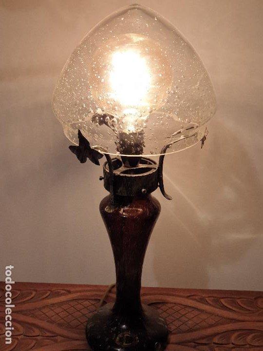 Vintage: LAMPARA SOBREMESA CRISTAL MURANO MODERNISTA - Foto 15 - 198253543