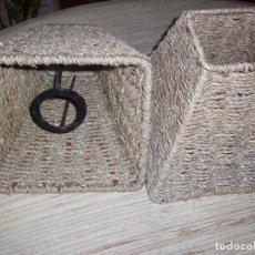 Vintage: BONITAS PANTALLAS DE SISAL PARA LAMPARA O APLIQUE . . Lote 201106391