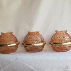 Vintage: LOTE TULIPAS EN CRISTAL MURANO MAZEGA PARA LAMPARA VINTAGE ITALIA AÑOS 70. Lote 201116980