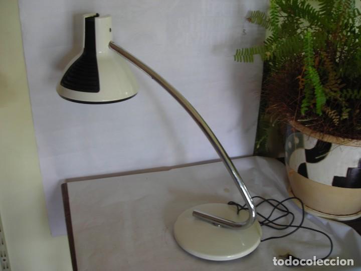 LAMPARA FASE SOBREMESA BLANCA (Vintage - Lámparas, Apliques, Candelabros y Faroles)