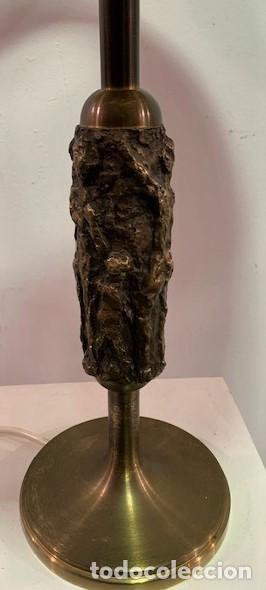 Vintage: Lámpara de mesa con pie escultura de bronce. - Foto 2 - 202962747