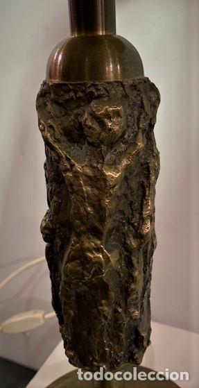 Vintage: Lámpara de mesa con pie escultura de bronce. - Foto 4 - 202962747