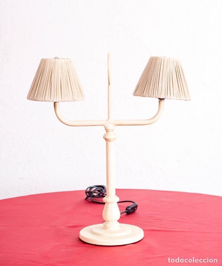 Vintage: Lámpara Vintage De hierro De Sobremesa - Foto 2 - 203146330